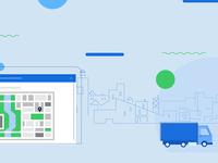 Logistics Dashboard Minimal Illustration