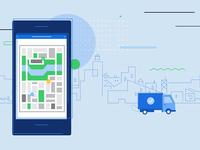 Logistics Map Minimal Illustrations