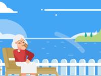 Grandma Vacationing