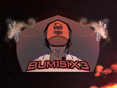 Bum1six3 Logo! logo minimal illustration design