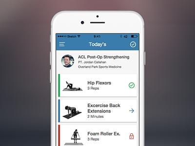 IHH Main Screen ui design ios mobile app cards list mobile app iphone app exercise fitness