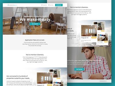 IntelliRent Landing Page web design website design landing page hero header sections long scroll one page nav full width