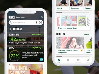 DSG Homescreen homescreen cards ios design mobile app mobile app design app design ui ios mobile