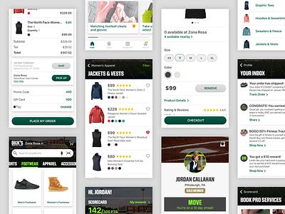 DSG Prototype tab bar shop shop app checkout cards commerce mobile app app design app ui design ios mobile