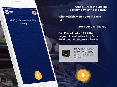 Napa Voice App conversational voice mobile app design mobile ios design app ios