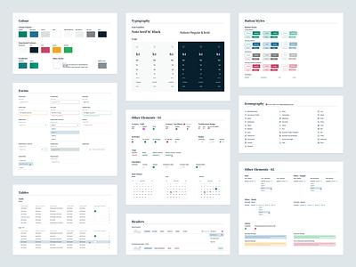 IR // Design System forms elements typography color palette ui design ui product design web app design system