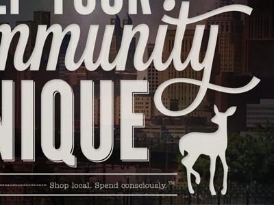 Keep Your Community Unique kc lavendaria typography