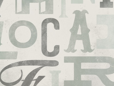 Think Local First typography texture vintage