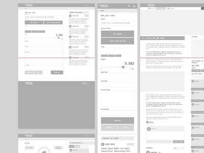 Predictive Markets - Wireframes