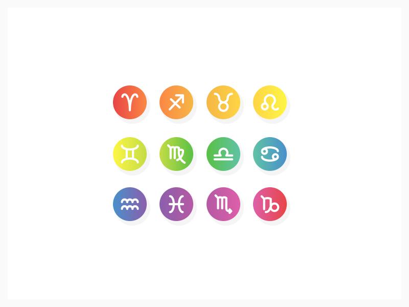 Horoscope gradients corel illustrator astrology horoscope vectors signs