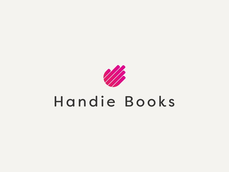 Handie Books Logotype book hand brand vector structure ci identity logo logotype