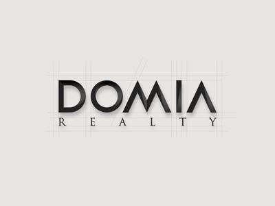 Domia typography design vectors branding vector logotype