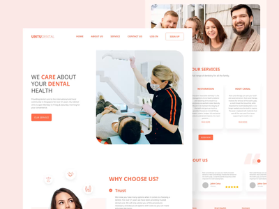 Dental Landing Page Exploration prototype ui design uidesign ui design website design website web design webdesign landing page landingpage landing medical dentist dental