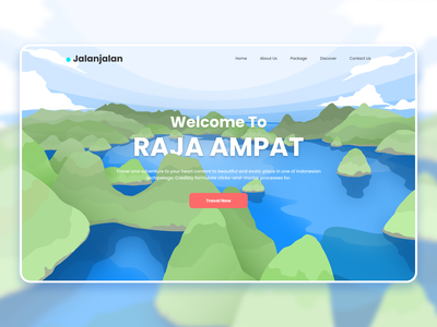 Travel Landing Header Illustration header hero travel landing page design landing page website design web design vector illustration website landing design
