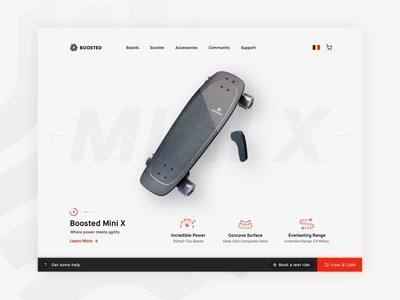 Boosted Boards Website Redesign
