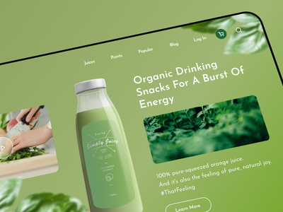 UI Design of Juice Shop Website juice app web uxui design ux ui