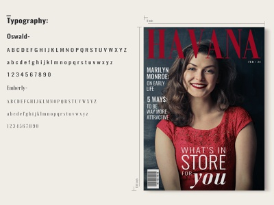 Havana Magazine Cover Details typeface layout magazine typography graphicdesign fashion editorial design cover branding