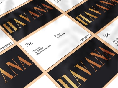 Havana Magazine business card v.2 business card brand identity typography magazine layout graphicdesign fashion editorial design cover branding