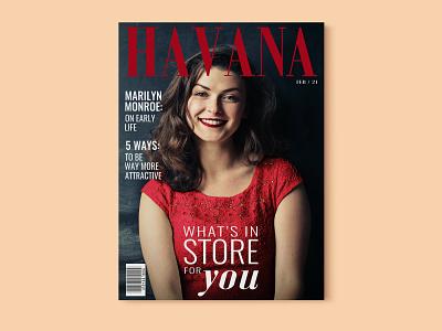 Havana Magazine Cover brand identity minimal typography layout graphicdesign branding fashion editorial design cover magazine