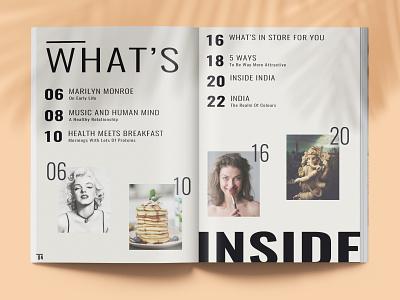 Havana Magazine page 4-5 minimal lifestyle cover design typography layout graphicdesign fashion editorial magazine branding