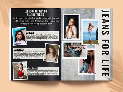 Havana Magazine page 14-15 minimal type lifestyle graphic design brand identity typography design editorial layout magazine fashion