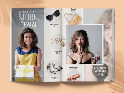 Havana Magazine page 16-17 advertisement branding lifestyle brand identity graphic design layout typography design editorial fashion magazine