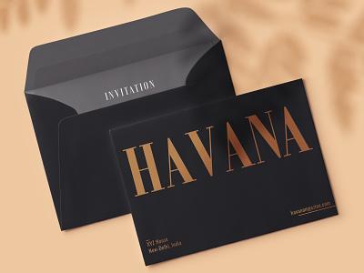 Havana Magazine envelope envelope layout minimal typography lifestyle brand identity branding design graphic design fashion editorial magazine