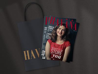 Havana Magazine Cover(s) v.3 bag graphic design brand identity branding typography fashion editorial design cover magazine