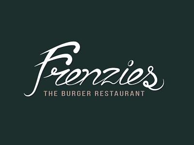 Frenzies Lettering lettering restaurant logotype identity brand logo hand lettering burger food design concept graphic design branding adobe illustrator