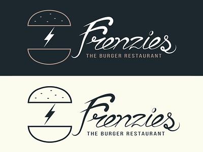 Frenzies Main Logo lettering concept graphic design adobe illustrator food restaurant identity brand burger hand lettering logotype logo design logo