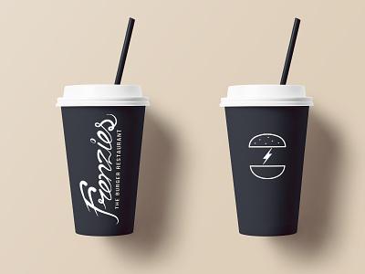 Frenzies Burger Drinks drink minimal concept packaging identity brand restaurant food logo branding graphic design design