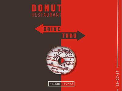 Donut Drive-Thru Poster minimal creative typography poster donut graphic design concept food restaurant design