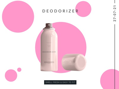 Deodorizer Poster packaging product visual poster creative minimal deo concept graphic design design