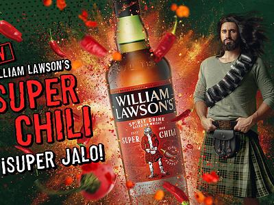 William Lawson's Super Chili design illustration photoshop retoucher photo retouch retouching creative