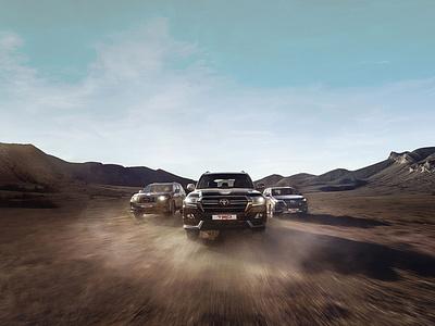 The key visual for Toyota illustration 3d photoshop retoucher photo retouch retouching creative