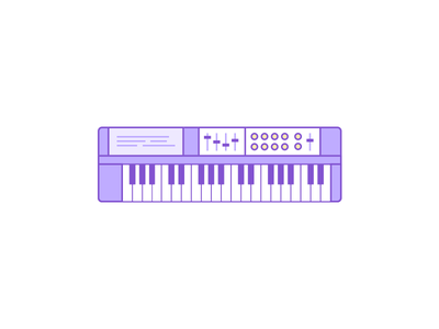 Keyboard detroit keyboard illustration