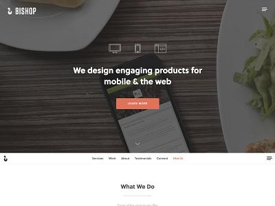 New site in progress ui ux logo branding menu navigation button icons heading soleil avenir homepage