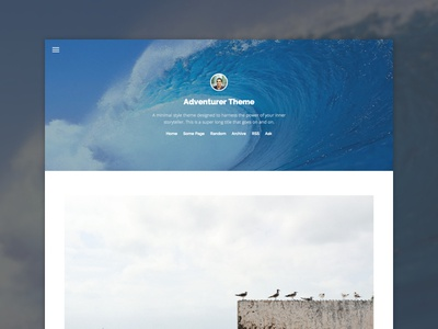 Tumblr Theme WIP tumblr theme hero menu raleway open sans photography typography