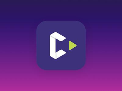 C App Icon metronome origami fold play c ios gradient icon app