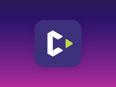 C App Icon metronome origami fold play c ios gradient icon app