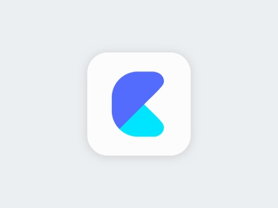 Cliption Mark Preview team research bookmarking blue color subtle chart shapes icon logo mark branding