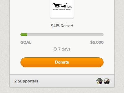 Responsive Causes proxima nova responsive web layout donate button icon avatar circle goal money raised texture