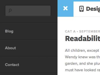 New Blog blog flyout menu proxima nova freight sans pro symbolset pika search icon fonts