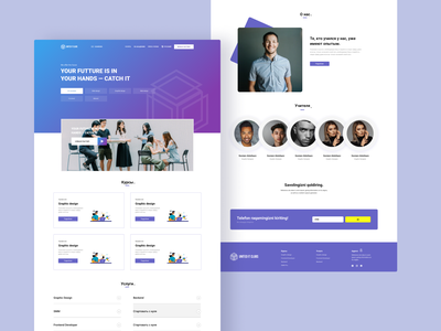 Main page of site IT Agency motion graphics 3d ui icon graphic design design branding app animation