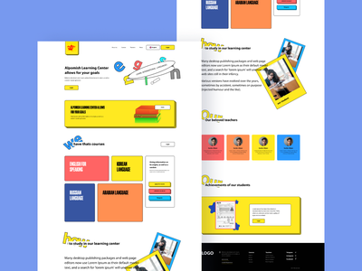Main page of site learning center ui logo illustration icon graphic design design branding app animation 3d