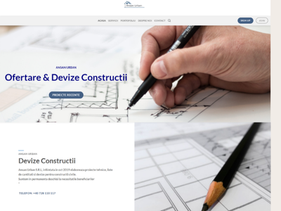 Ansan Urban Presentation Website webdevelopment website concept website design website webdesign ux ui design
