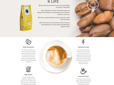 K-Coffeeshop.com Amazon FBA - Presentation Website wordpress design wordpress e-commerce ui ux website website design website concept webdevelopment design webdesign