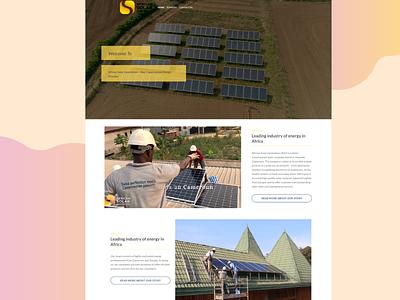 Solar Energy company from South Africa website builder wordpress development wordpress design wordpress website ui ux website design webdevelopment webdesign website concept design