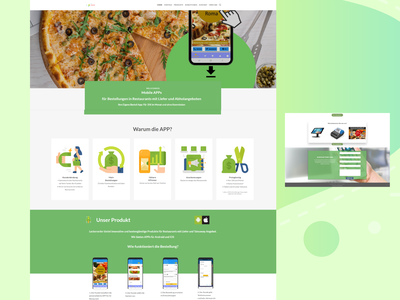 Website for a Food Ordering App in Germany wordpress website wordpress development website design wordpress design webdevelopment webdesign website concept branding design