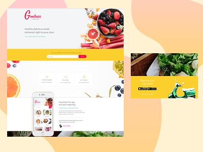 Food Ordering App Website Concept wordpress design wordpress ui ux webdevelopment website design website concept website webdesign design